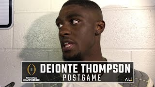 Deionte Thompson after Alabama's loss to Clemson in the National Championship