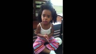My 3 year old tries to get out of trouble by telling stories with Tiffany Sims