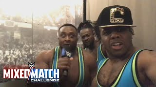 Xavier Woods records a selfie of Big E delivering his classic New Day introduction