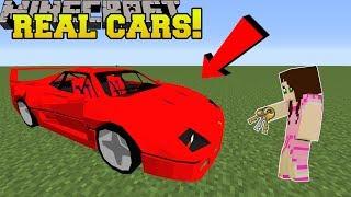 Minecraft: REALISTIC CARS!!! (LAMBO, PORSCHE, FERRARI, & MORE! ) Mod Showcase