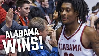 Alabama celebrates win over Auburn with fans