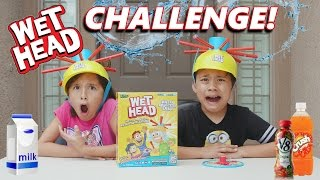 WET HEAD CHALLENGE!!! Extreme Liquid Hat Game in 4K!