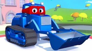 Carl der Transformer Truck und die Planierraupe in Autopolis| Auto und Lastwagen Bau Cartoons