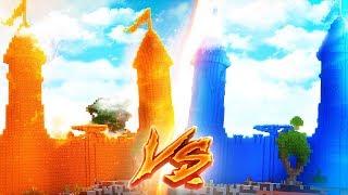 LAVA SCHLOSS vs. WASSER SCHLOSS! (Minecraft)