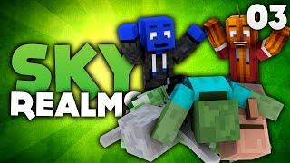 UNSERE GRANDIOSE MOBFARM! - Minecraft Sky Realms #03 | DieBuddiesZocken