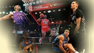 Top 10 Best NBA All Star Dunk Contest Dunks - ALL TIME (1984 - 2016)