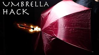 INSANE UMBRELLA HACK! - SPY Umbrella Dart Gun!!!
