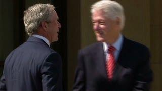 Clinton pokes fun at Bush