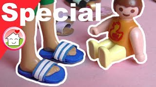 Pimp my PLAYMOBIL deutsch - Schuhe shoppen - Sandalen DIY - Kinderserie - Family Stories