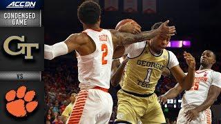 Georgia Tech vs. Clemson Condensed Game | 2018-19 ACC Basketball