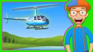 Helicopters for Children | Blippi Explore a Helicopter