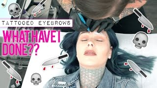 Tattooing/Microblading my EYEBROWS!! Q&A| KristenLeanneStyle