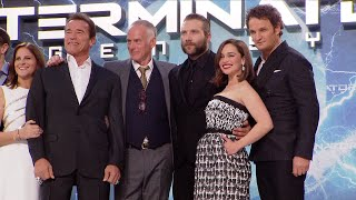 Terminator Genisys European Premiere Red Carpet: Arnold Schwarzenegger, Emilia Clarke, Jai Courtney