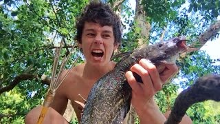 SPEARFISHING CATFISH! Catch n Cook - Cooked in the Coals!