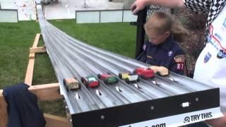 Longest Pinewood Derby Track 6 Lanes 8/2010 Salt Lake City, Utah