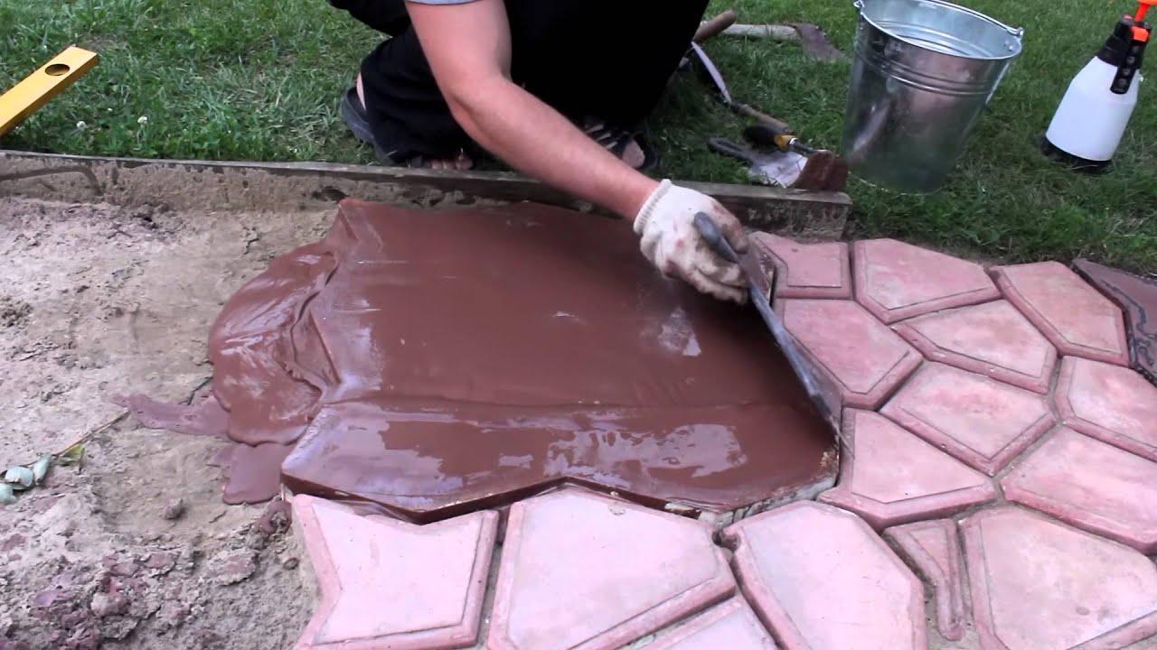 Садовая плитка своими руками
