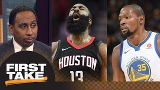 Stephen A. Smith says Warriors should be concerned about Rockets | First Take | ESPN