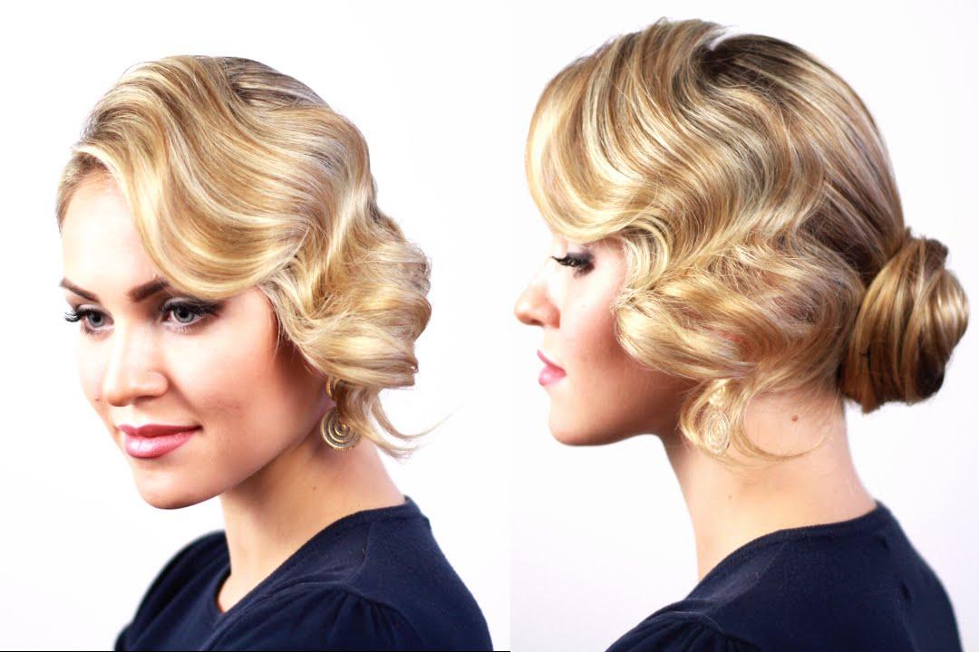 Прическа голливудская волна на средние волосы