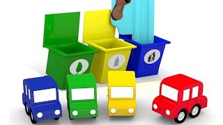 Lehrreicher Zeichentrickfilm - Die 4 kleinen Autos - Wir bauen einen Müllwagen