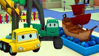 Das Piratenschiff -Der Bau Trupp in Autopolis 🚧 | Lastwagen Bau-Cartoon-Serie für Kinder