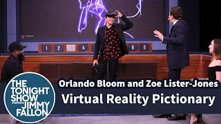 Virtual Reality Pictionary with Orlando Bloom and Zoe Lister-Jones