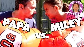 BOXKAMPF MILEY vs. ROBERT   Wer geht K.O. ? Banzai Mega Boxing Gloves   Mileys Welt