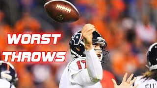 NFL Worst Throws of All-Time