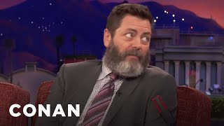 "Nick Offerman: ""Hearts Beat Loud"" Is A Beautiful Movie With So Much Heart  - CONAN on TBS"