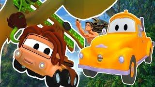 Die Lackierwerkstatt von Tom dem Abschleppwagen: Klein Charlie ist Tarzan | Lastwagen Cartoons