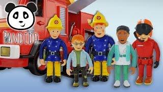 ⭕ FEUERWEHRMANN SAM - Sam, Penny, Helen, Norman, Tom - Spielzeug Ausgepackt & Angespielt - Pandido