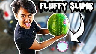 Watermelon Vs Fluffy Slime from 250cm!
