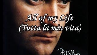 Phil Collins - All of my Life - Traduzione in italiano