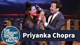 Priyanka Chopra and Jimmy Celebrate Holi with a Messy Paint Fight
