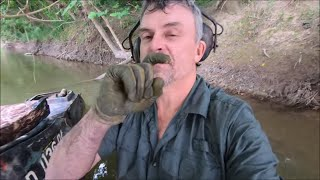 Metal Detecting And Bottle Collecting Via Motorized Kayak
