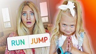 We let 5 year old Everleigh control her pregnant mom