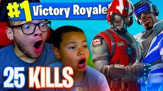 *NEW* SKINS ARE OVERPOWERED! 25 KILLS! FORTNITE BATTLE ROYALE! 9 YEAR OLD KID! STARTER PACK AND FREE