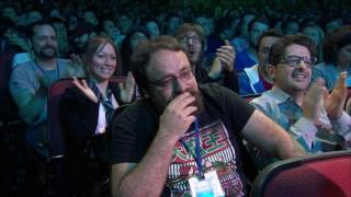 Mario + Rabbids Kingdom Battle Worldwide Reveal at E3 2017.