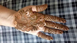 Indo Gulf Henna Design For Hands Step By Step For Begginers