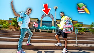 YouTubers Go BACK to SCHOOL for 24 Hours! **FIRST DAY**
