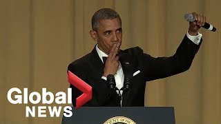 """Obama out:"" President Barack Obama"