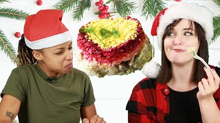 People Try Christmas Food From Around The World