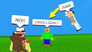 SPAWNING BALDI BASICS WITH ADMIN COMMANDS! (Roblox)