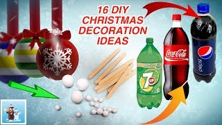 16 Awesome Ideas for DIY Christmas Decorations Art and Craft