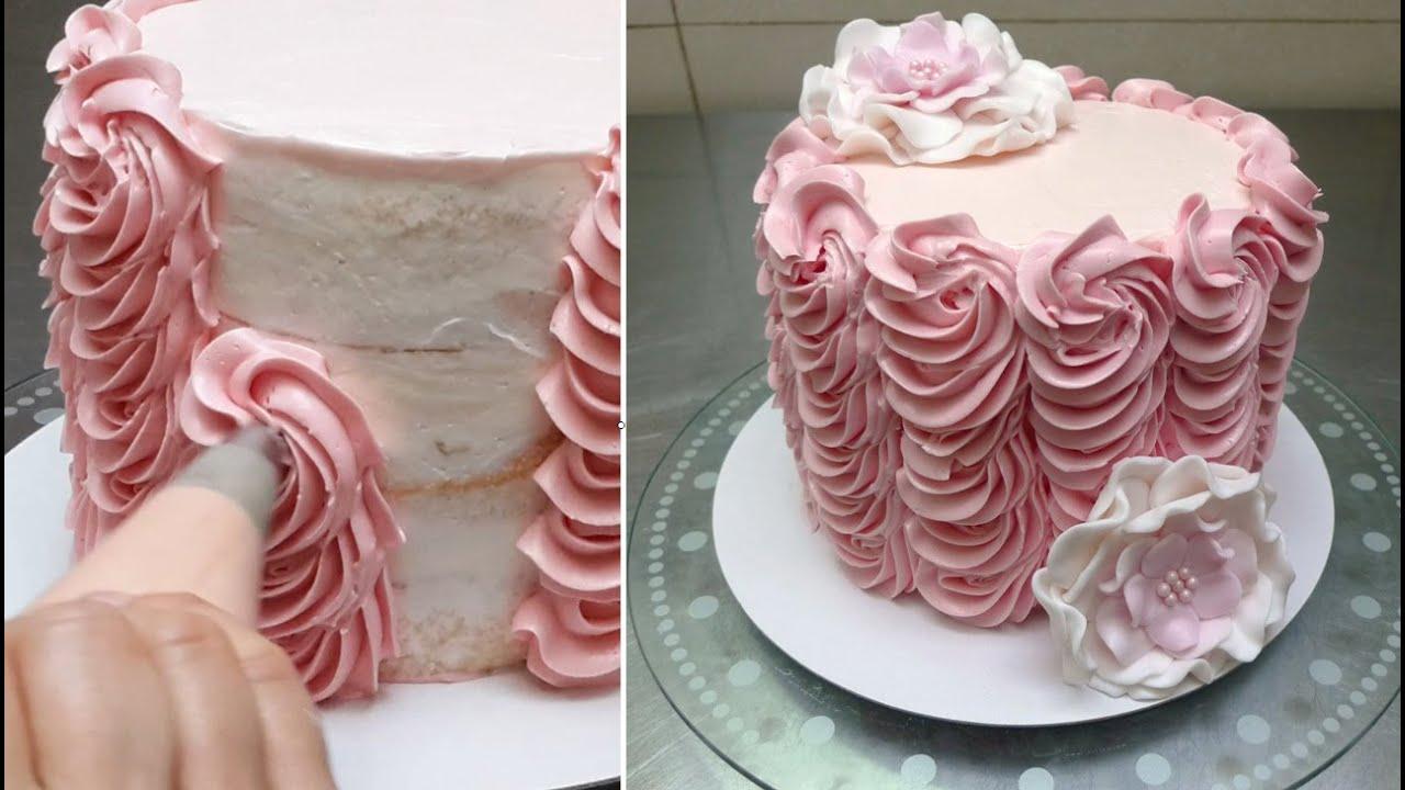 Украшение на торт из крема