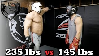 Bodybuilder vs MMA Fighter: Jujimufu Sparring Shane Fazen