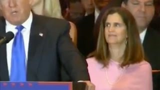 Did Mary Pat Christie just roll her eyes at Trump for his