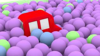 Lehrreicher Zeichentrickfilm - Die 4 kleinen Autos - Wir suchen das rote Auto