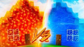 LAVA HAUS vs. WASSER HAUS! (Minecraft)