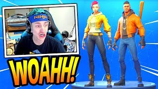 NINJA REACTS TO *NEW* SHADE & MAVERICK SKINS! *EPIC* Fortnite FUNNY & SAVAGE Moments
