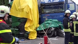 A2 bei Dortmund: Schrecklicher Doppelunfall fordert zwei Todesopfer